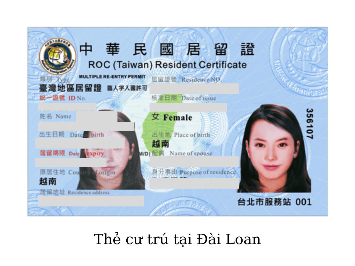 Thủ tục làm thẻ cư trú ở Đài Loan