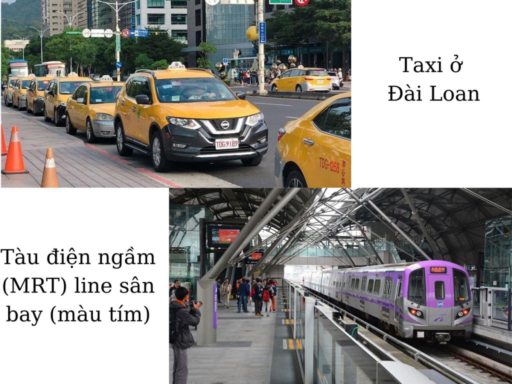 Xe taxi và tàu điện ngầm ở Đài Loan