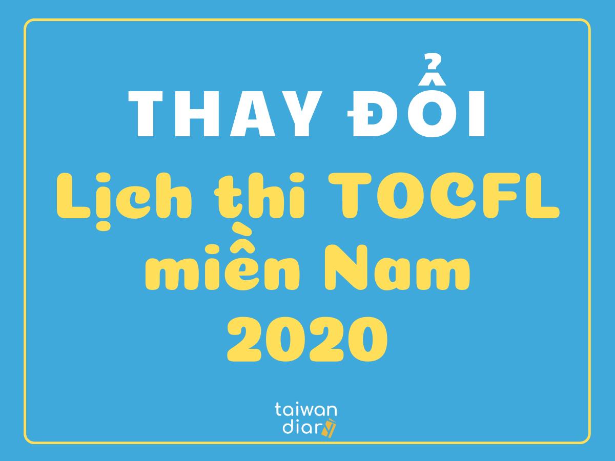 Thay đổi lịch thi TOCFL miền nam 2020